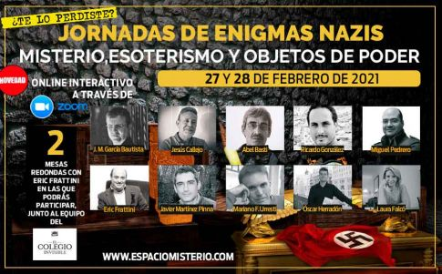 Jornadas online «Enigmas Nazis: misterio, esoterismo y objetos de poder»