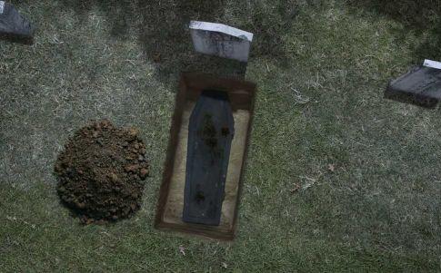 Encuentran los restos de una mujer que dio a luz en su ataúd