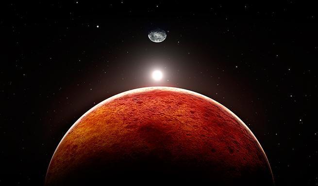 Visión del planeta rojo, al que los psíquicos de la CIA viajaron