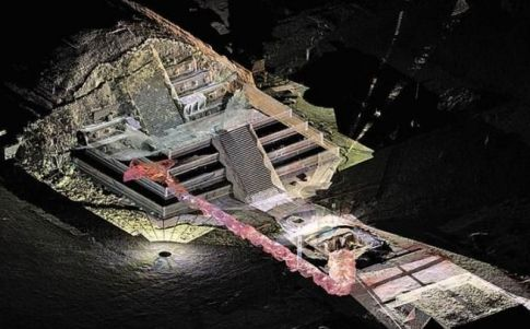 Un túnel bajo el templo de la Serpiente Emplumada podría ser el inframundo