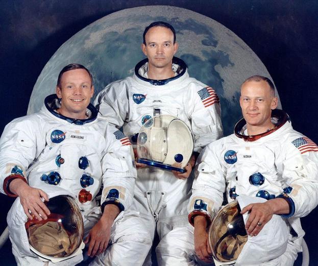 """Los tres astronautas que """"oficialmente"""" llegaron primero a la Luna"""
