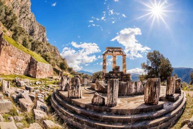 El templo de Delphos (Grecia)